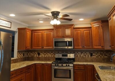 Starnes Electric LLC Electricians, kitchen lighting recessed and fan with light